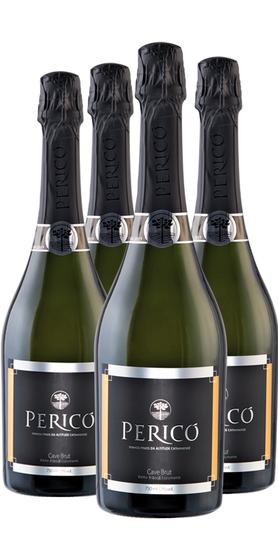 Kit 4 Gfs. Cave Branco brut 750 ml.