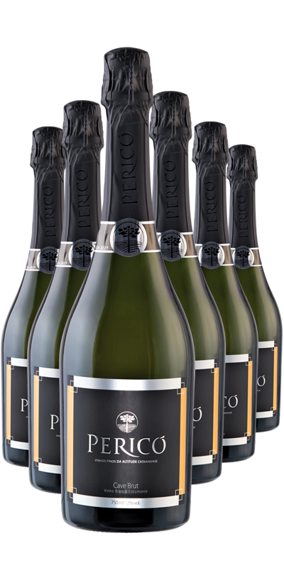Kit 6 Gfs. Cave Branco brut 750 ml.
