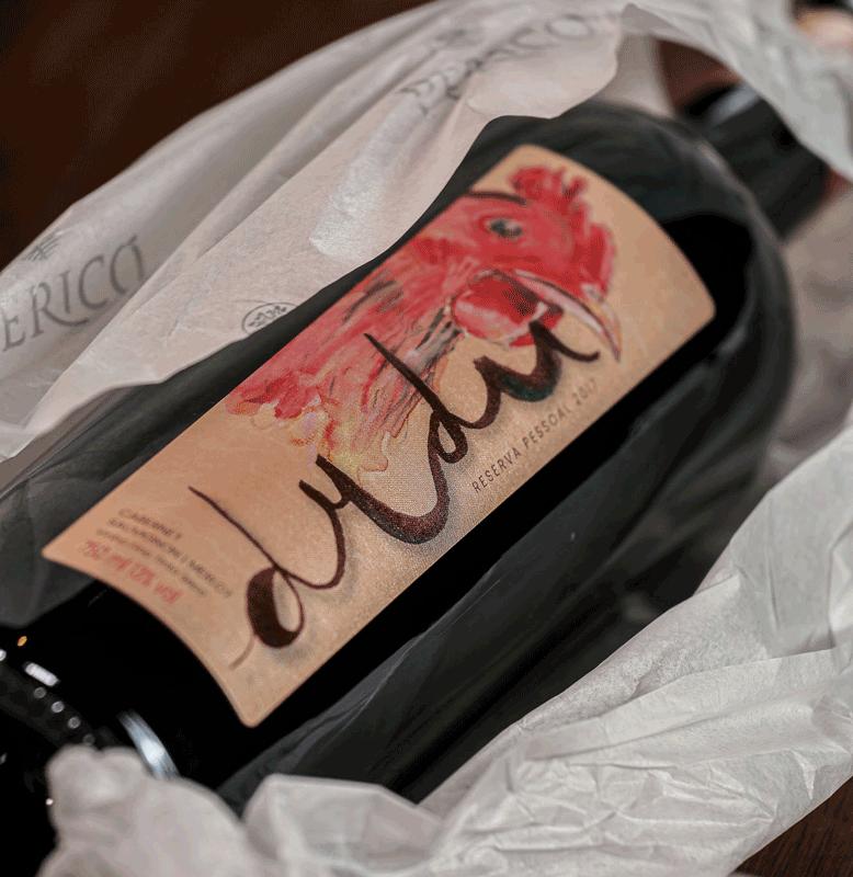 Kit 6 Gfs. Vinho Exclusivo Reserva Dudu 2017