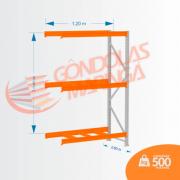 Mini Porta Pallet 500KG CONT LX 2,00X1,20 X 0,60 C3
