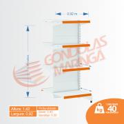 Gôndola Flex 40 Cont. Centro  1,42X0,92X0,60/0,80