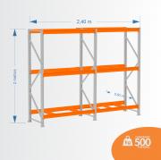 Kit Mini Porta Pallets 01 Inicial + 01 Continuação 500KG 03 Níveis ALT 2,00 X PROF 0,80 X COMP 2,40