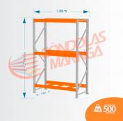 Mini Porta Pallet 500kg INIC LX 2,00X1,80 X 0,60 C3
