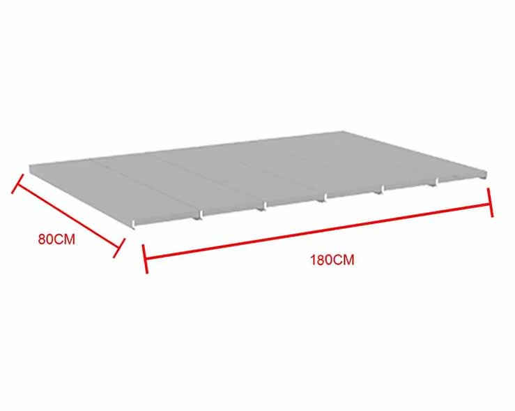 Bandeja em Aço para Mini Porta Pallet 500kg - Amapá 0,20x0,80 C9 - P/ LONGARINA 1,80