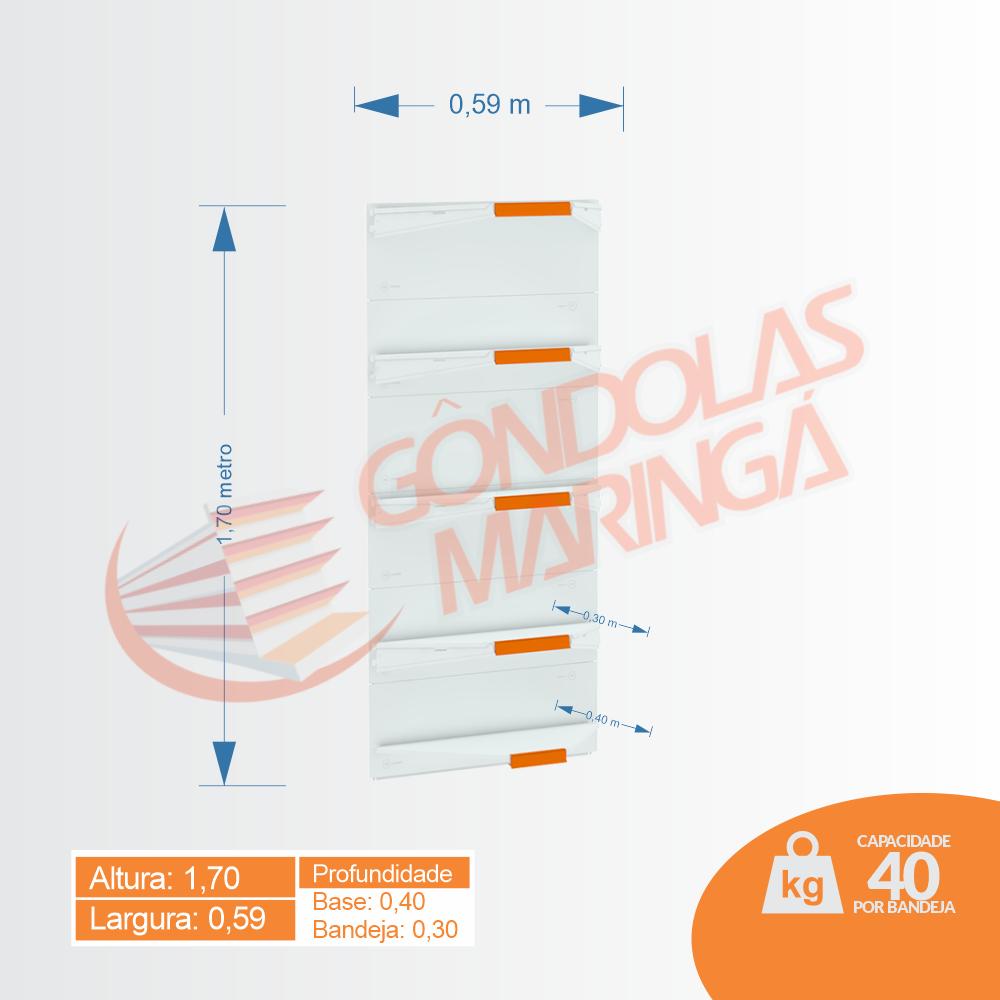 Gôndola Flex 40 Canto - 1,70 alt | C5
