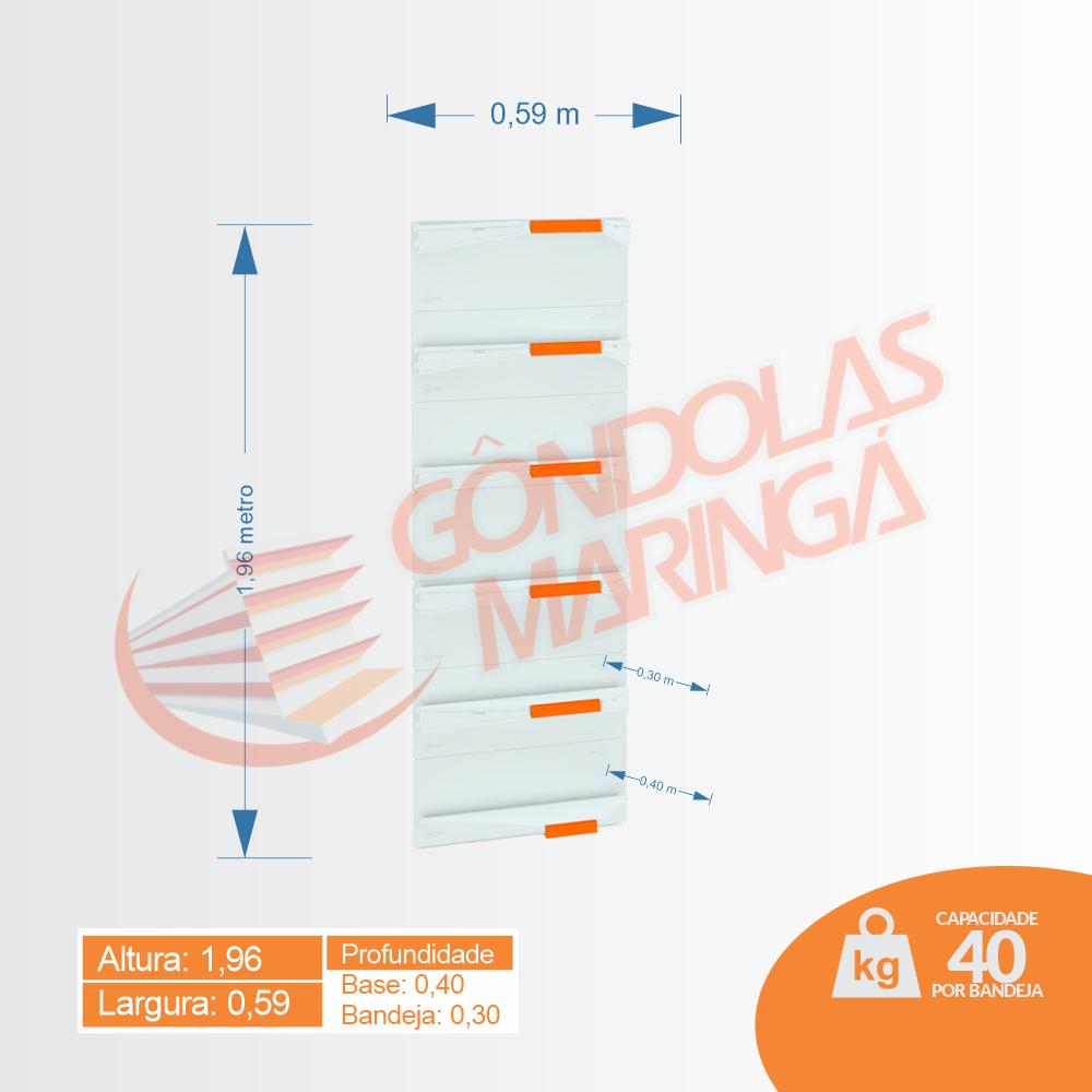 Gôndola Flex 40 Canto - 1,96 alt | C6