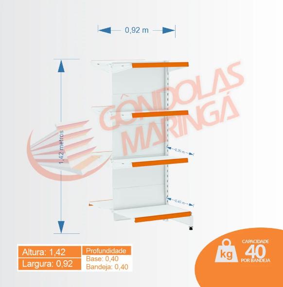 Gôndola Flex 40 Continuação Centro - 1,42 alt | C8