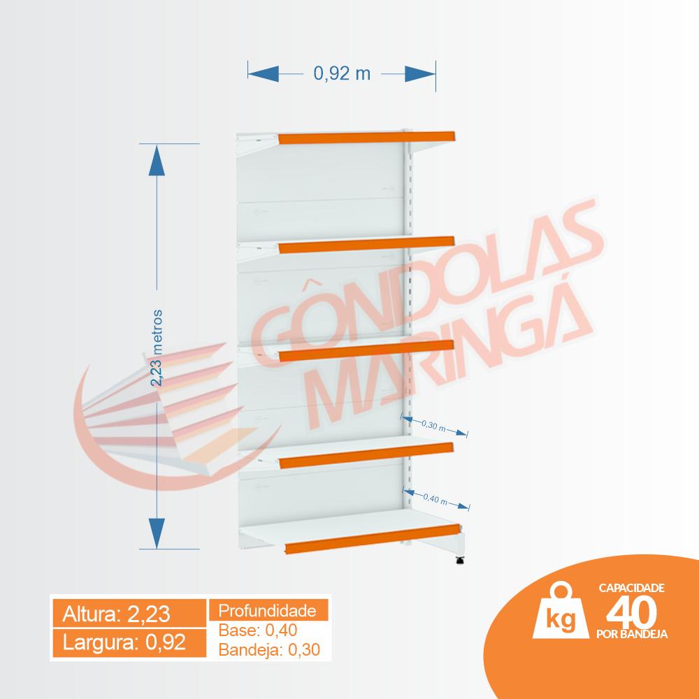 Gôndola Flex 40 Continuação Parede - 2,23 alt