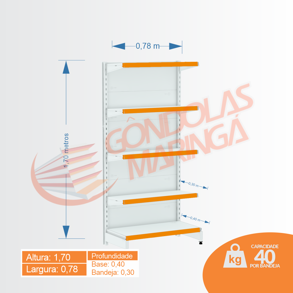 Gôndola Flex 40 Ponta - 1,70 - C5