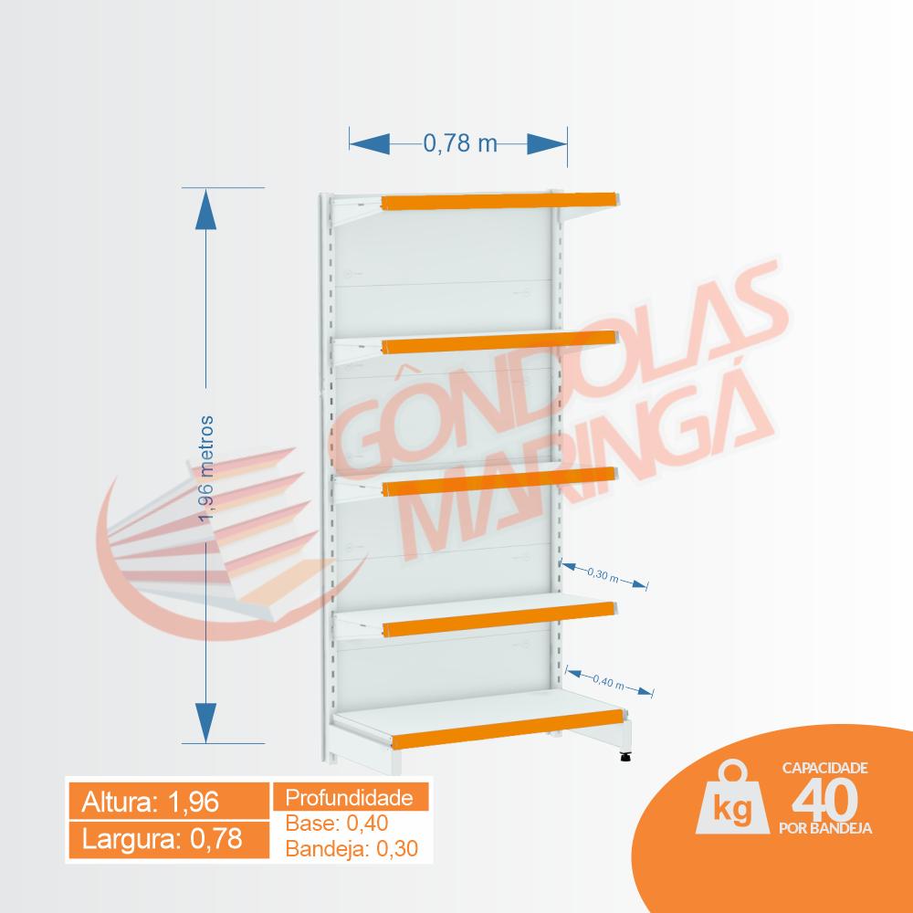 Gôndola Flex 40 Ponta - 1,96 alt - C5