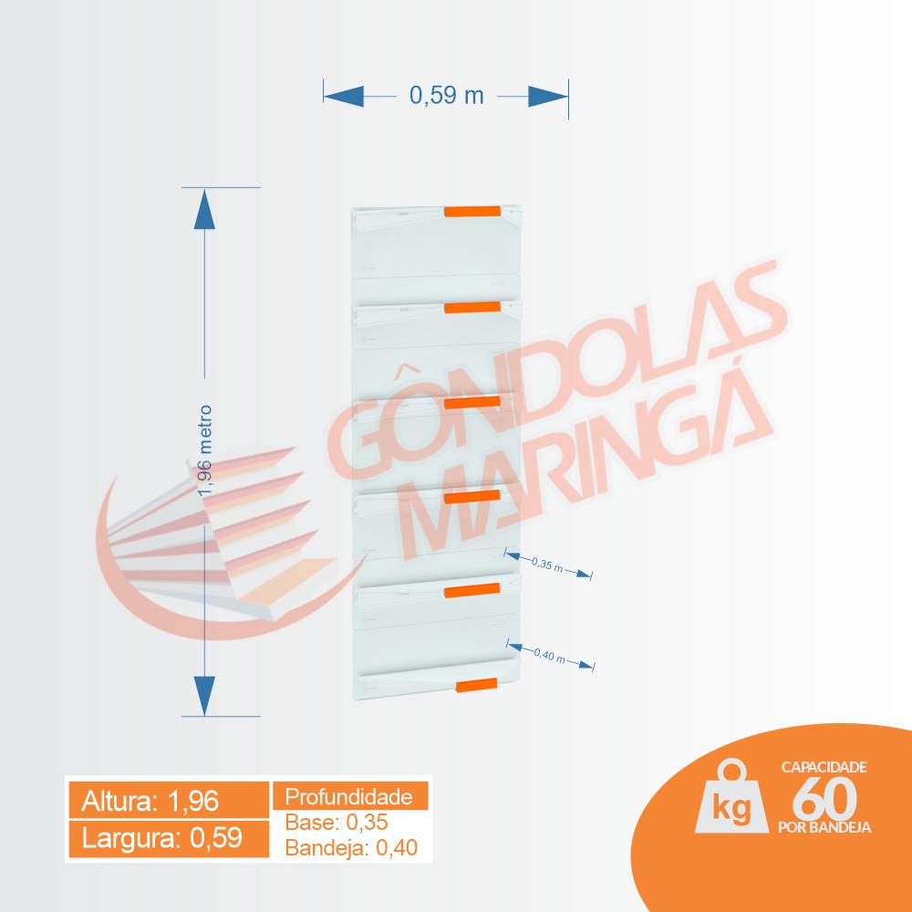 Gôndola Flex 60 Canto - 1,96 alt | C6