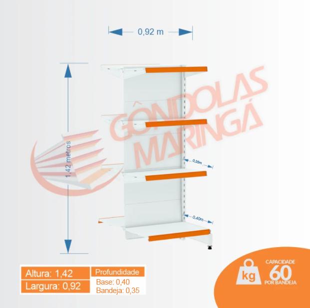 Gôndola Flex 60 Centro Cont - 1,42   C8 40/35