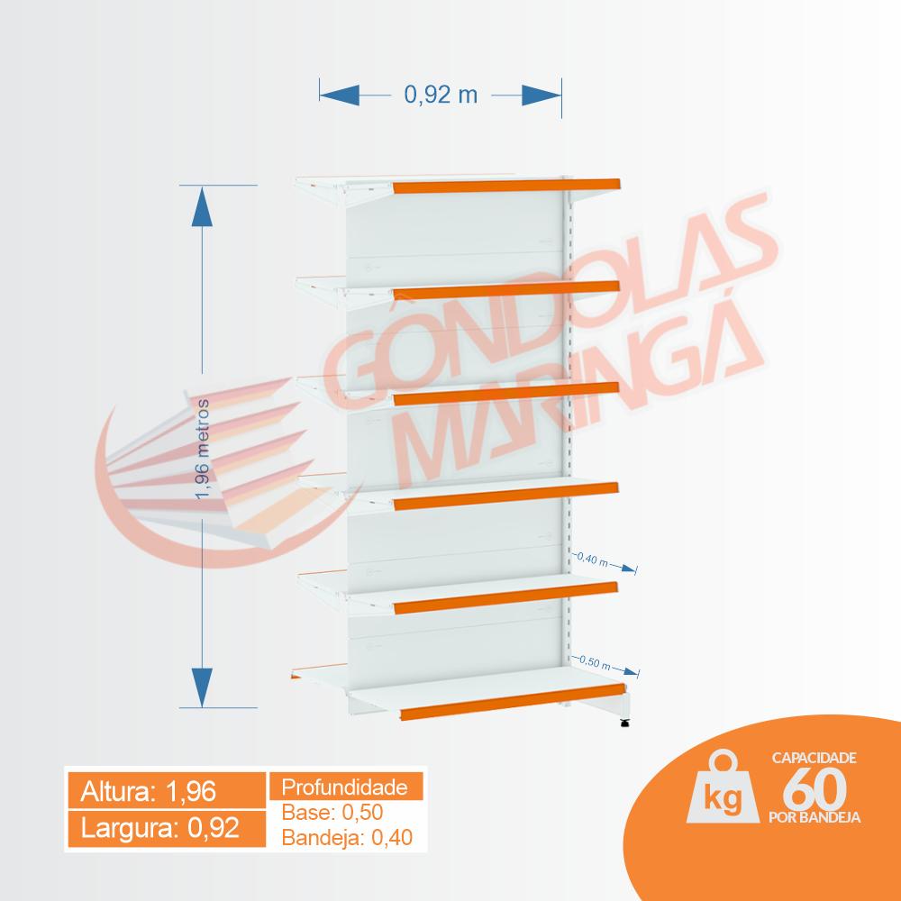 Gôndola Flex 60 Centro Continuação - 1,96 alt | C12