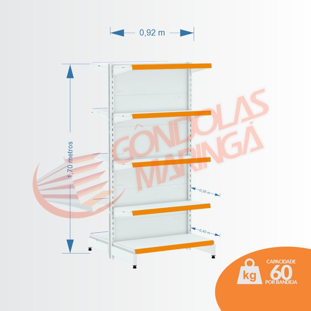 Gôndola Flex 60 Centro Inicial - 1,70 Alt | C10