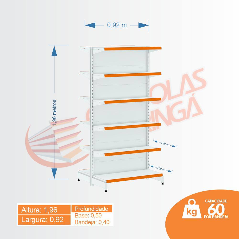 Gôndola Flex 60 Centro Inicial - 1,96 | C12 100/80