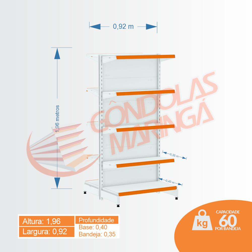 Gôndola Flex 60 Centro Inicial - 1,96X0,92 C10 80/70