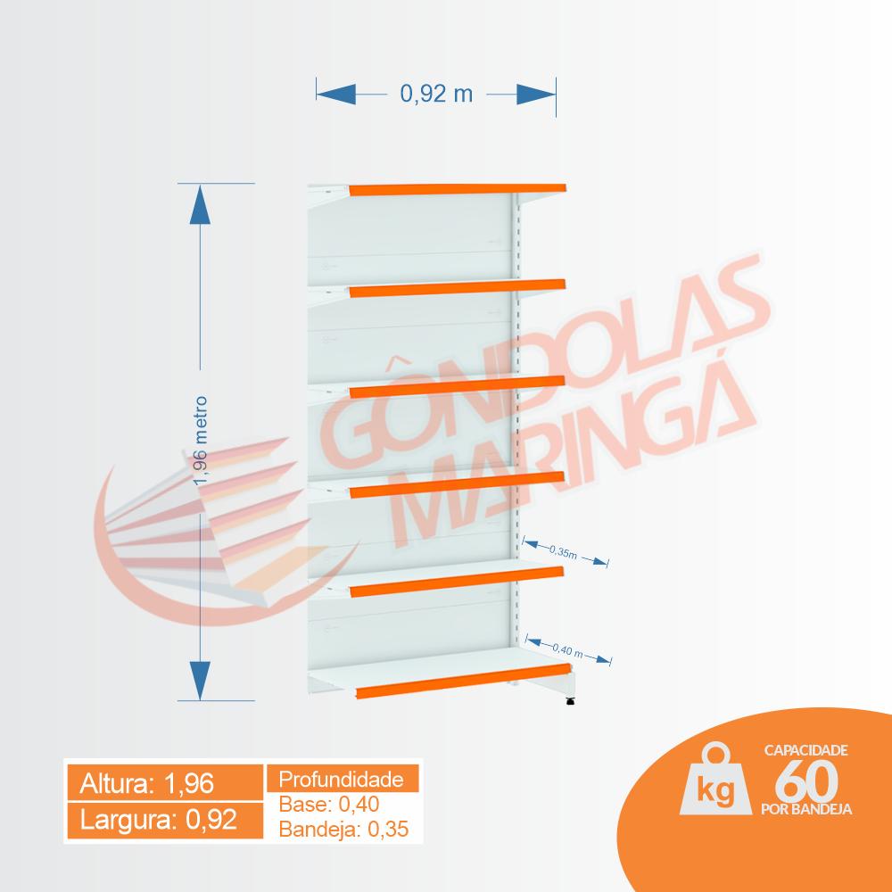 Gôndola Flex 60 Continuação Parede - 1,96 alt | C6