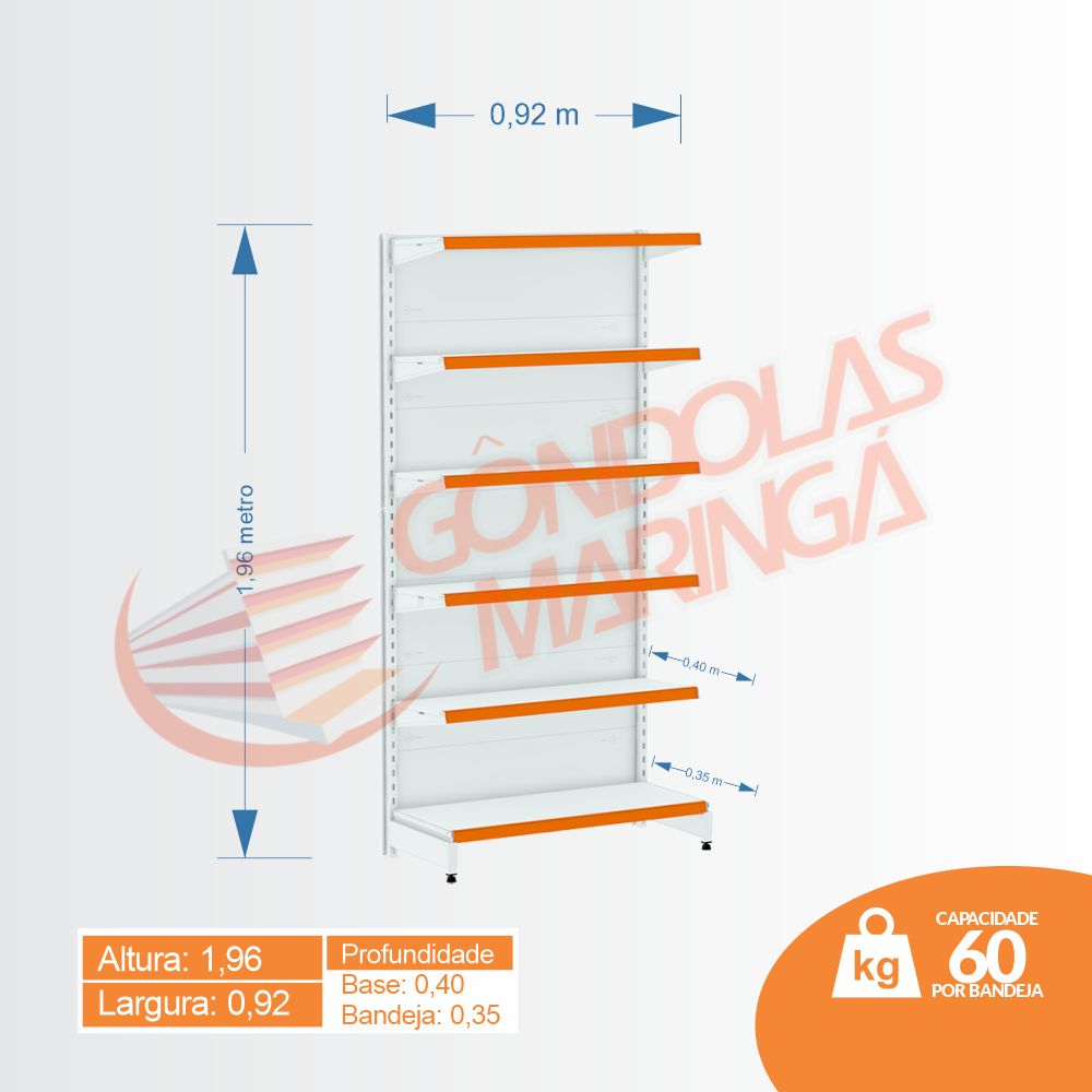 Gôndola Flex 60 Inicial Parede - 1,96 | C6 40/35