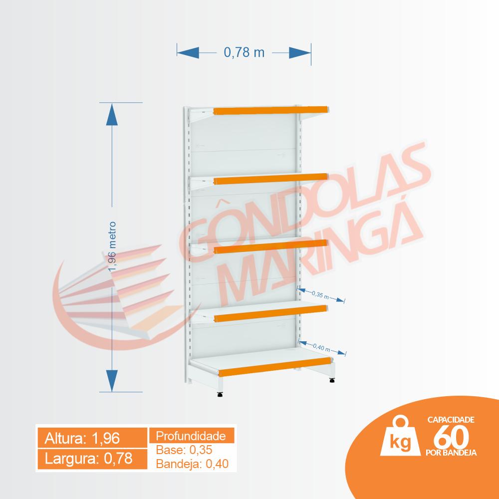 Gôndola Flex 60 Ponta - 1,96 alt X 0,78 larg | C5