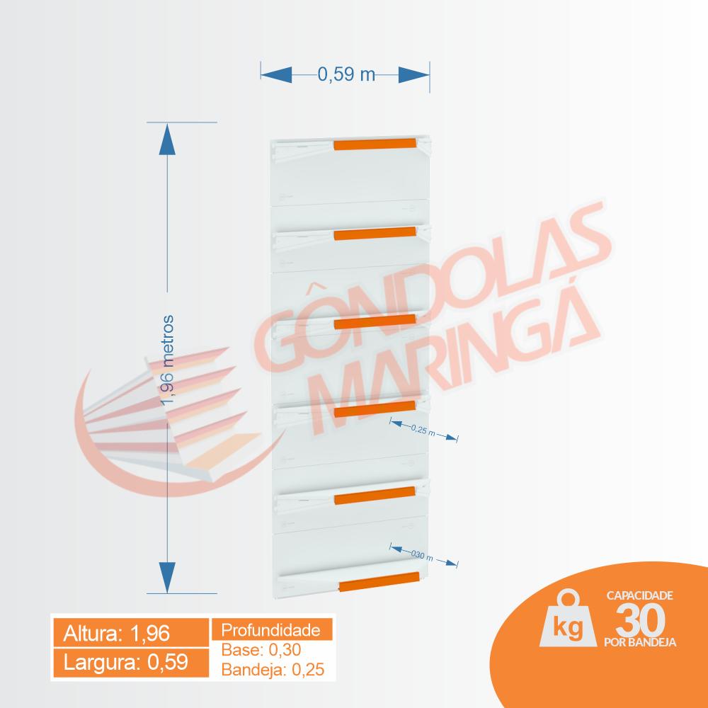 Gôndola Flex 30 Canto - 1,96 alt | C6