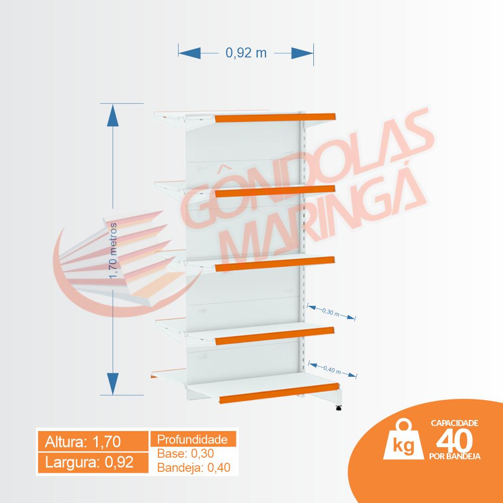 Gôndolas Flex 40 Inicial Centro - 1,70 alt C10