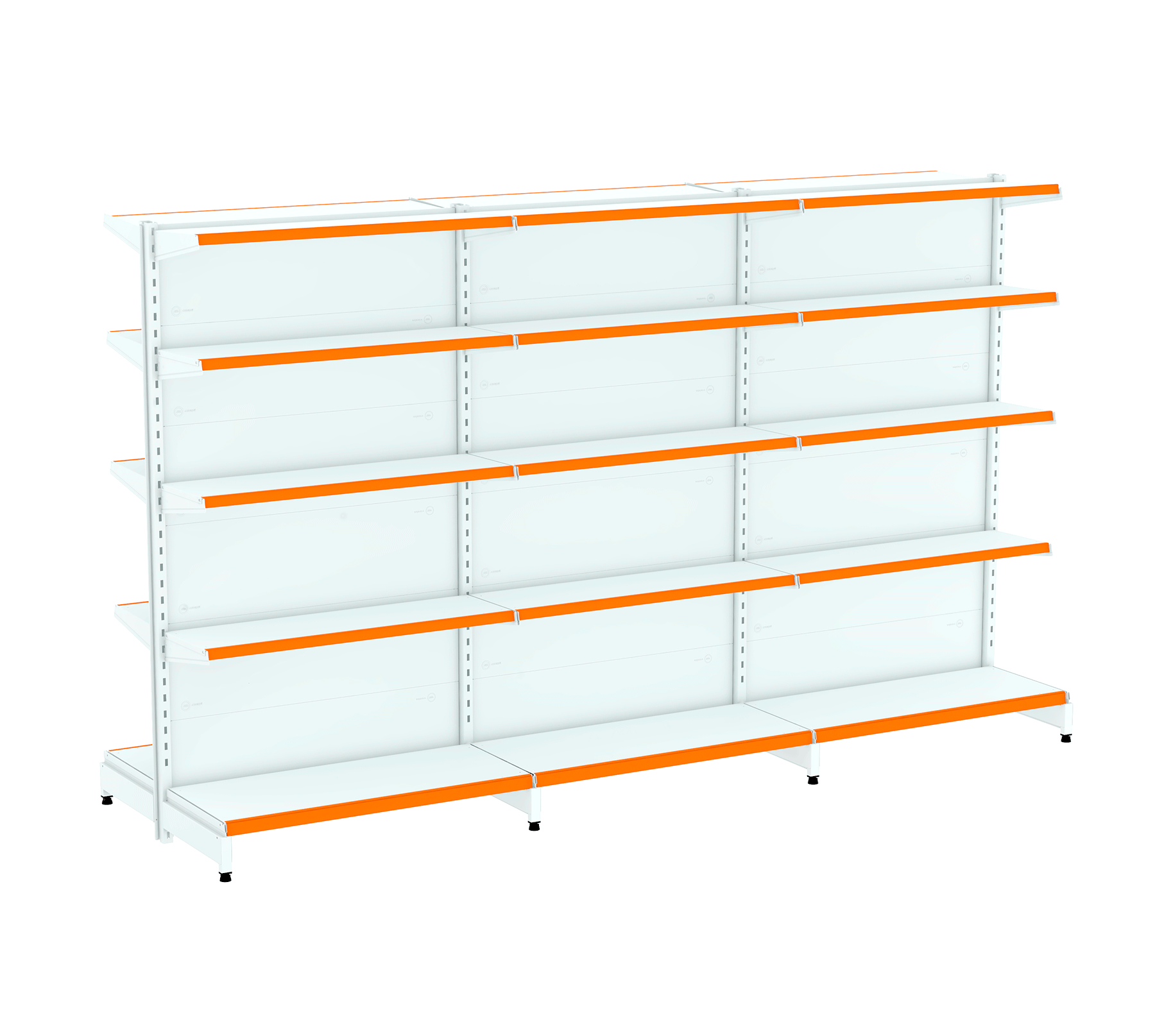 Kit 03 Gôndolas para Centro 1,70  40/30
