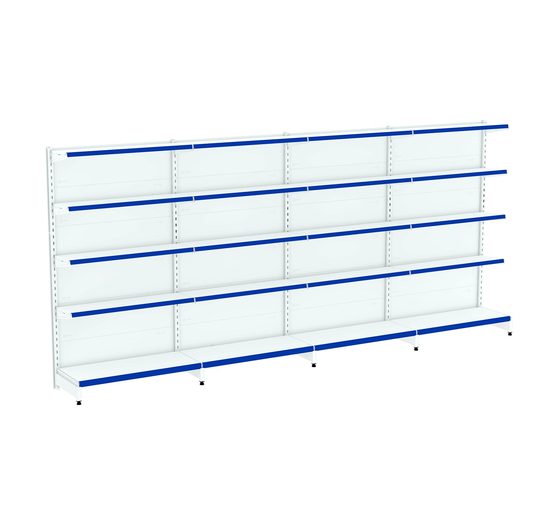 Kit 04 Gôndolas para Parede 1,70  40/30