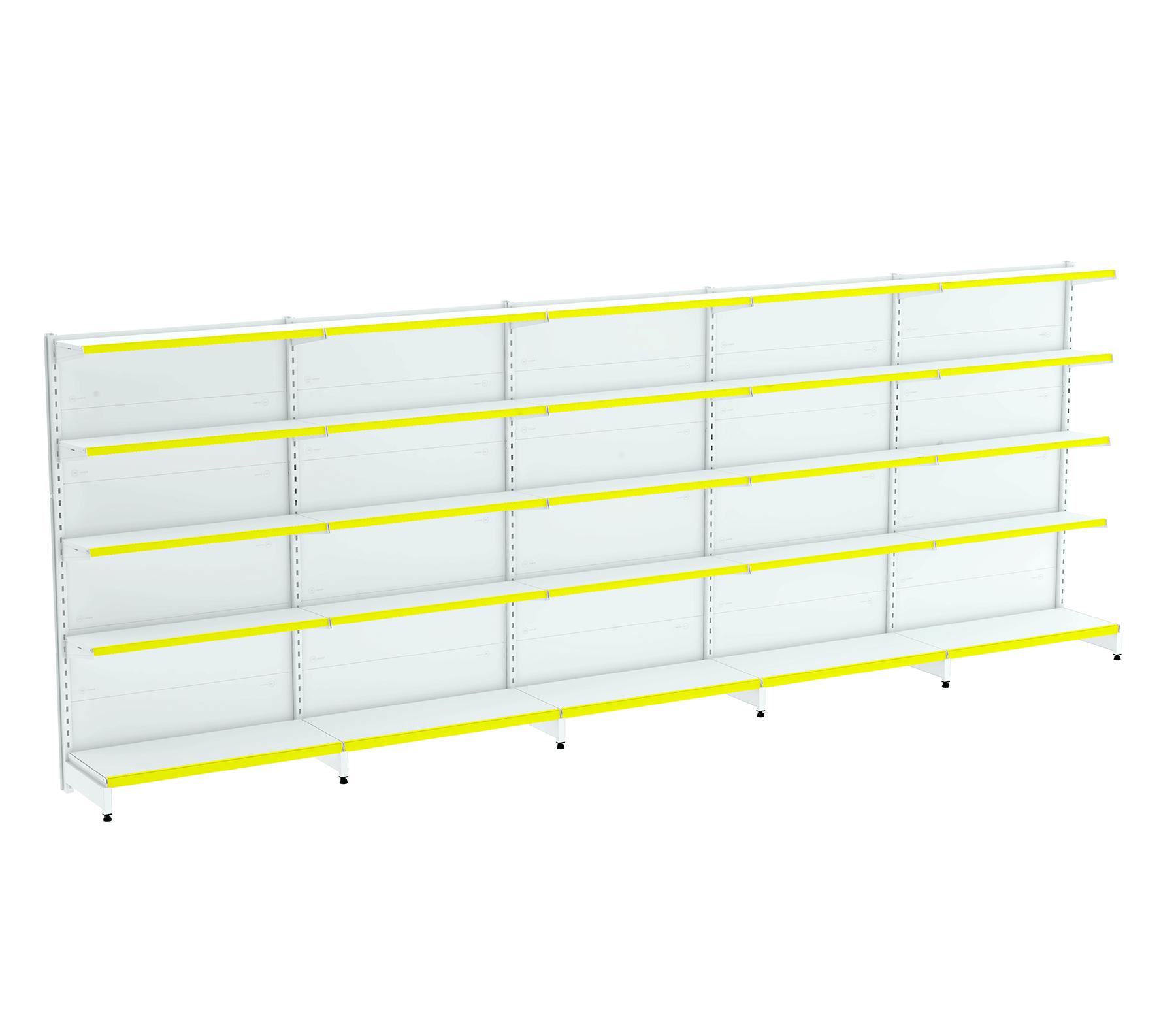 Kit 05 Gôndolas para Parede 1,70  40/30