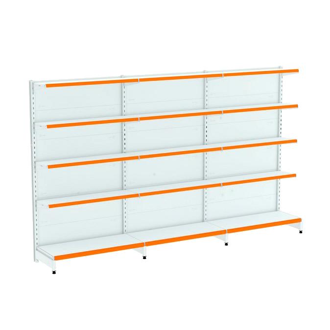 Kit 3 Gôndolas Parede Para Supermercado 1 Inicial + 2 Continuação 170cm | Flex 40