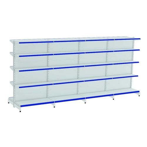 Kit Gôndola Centro 1,70 - 4 metros - 01 inicial + 03 continuação PE Azul