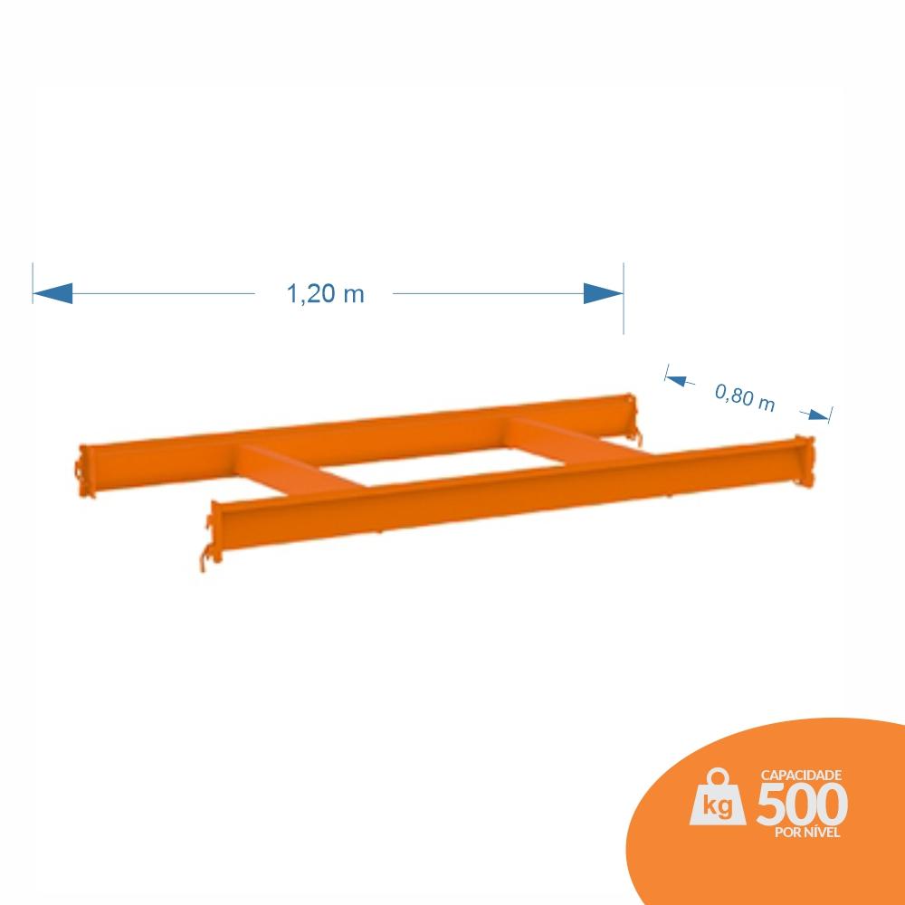 LONGARINA 1,20X0,80 KIT C/ 02 TRAVESSAS CENTRAIS - MPP 500