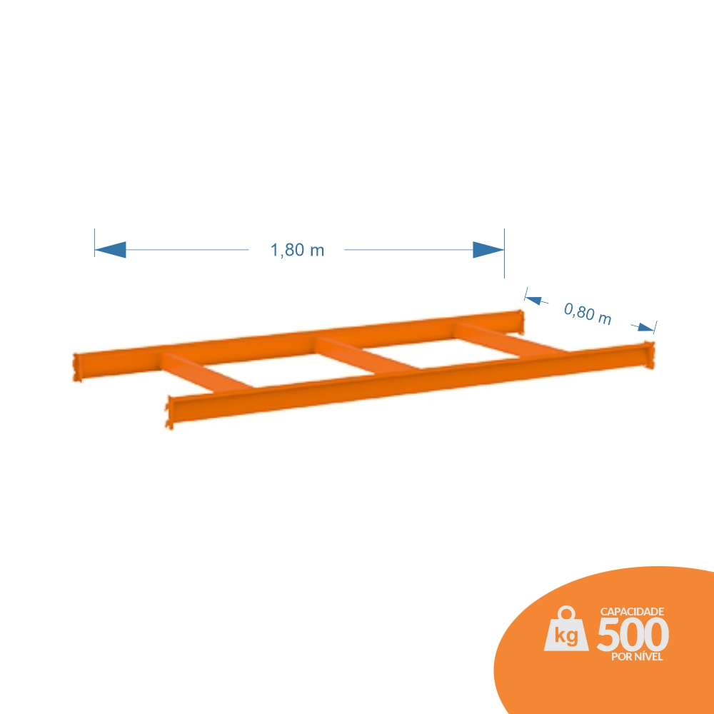 LONGARINA 1,80X0,80 KIT C/ 03 TRAVESSAS CENTRAIS - MPP500