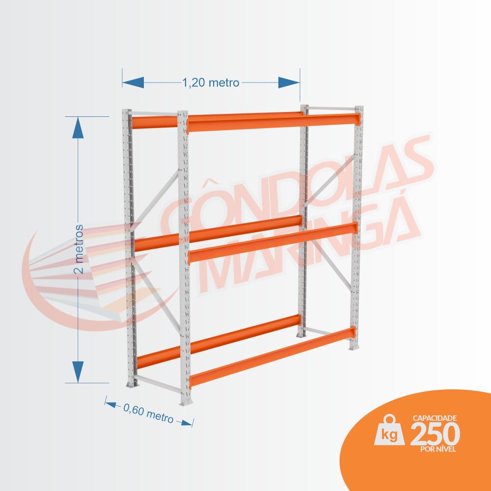 Mpp 250 Kg - Kit Inicial- Lx 2,00 x 1,20 x 0,60 C3 - Crist Li S/ Band C/ Acab Lrj