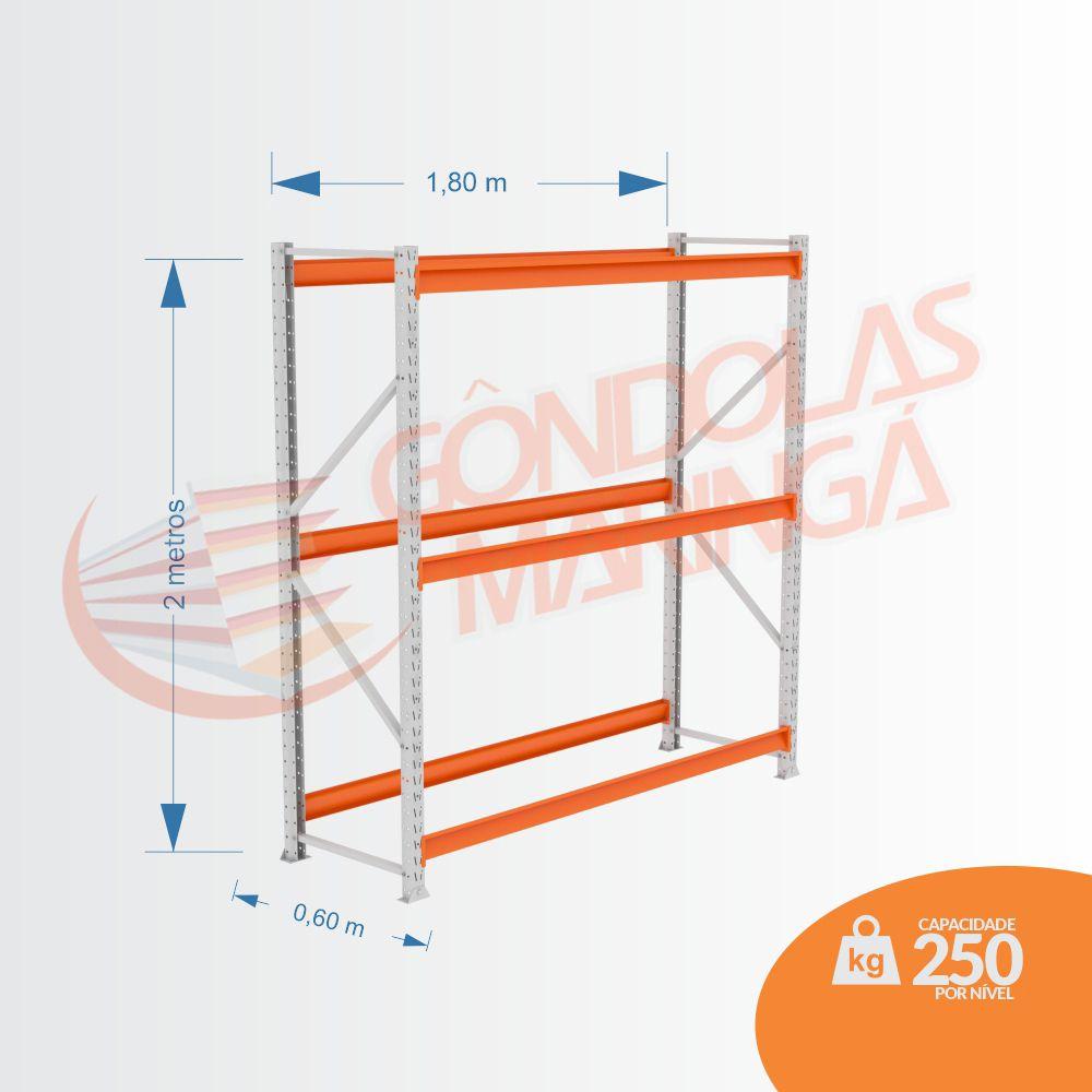 Mpp 250 Kg -kit Inicial- Lx 2,00 x 1,80 x 0,60 C3 - Crist Li S/ Band C/ Acab Lrj