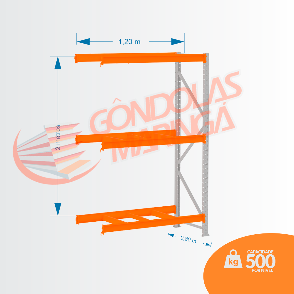 Mini Porta Pallet 500kg CONT 2,00X1,20 X 0,80 C3