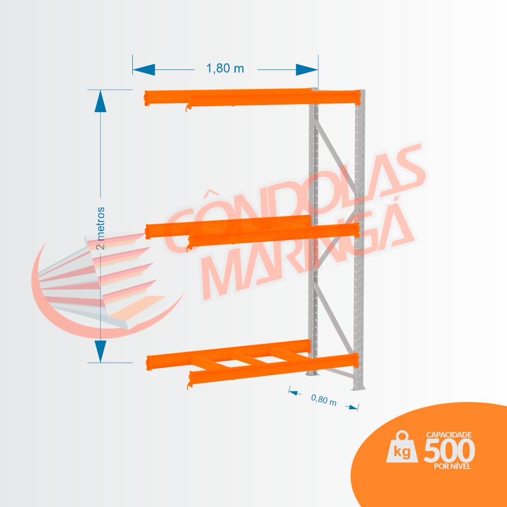 Mpp 500 Kg -kit Continuação- Lx 2,00 x 1,80 x 0,80 C3 - Crist Li S/ Band C/ Acab Lrj