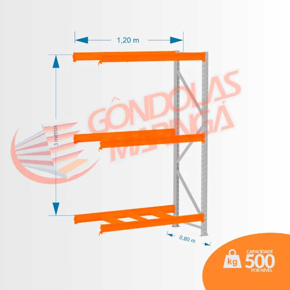 Mpp 500 Kg -Kit Continuação- Lx 3,00 X 1,20 X 0,80 C3 - Crist Li S/ Band C/ Acab Lrj
