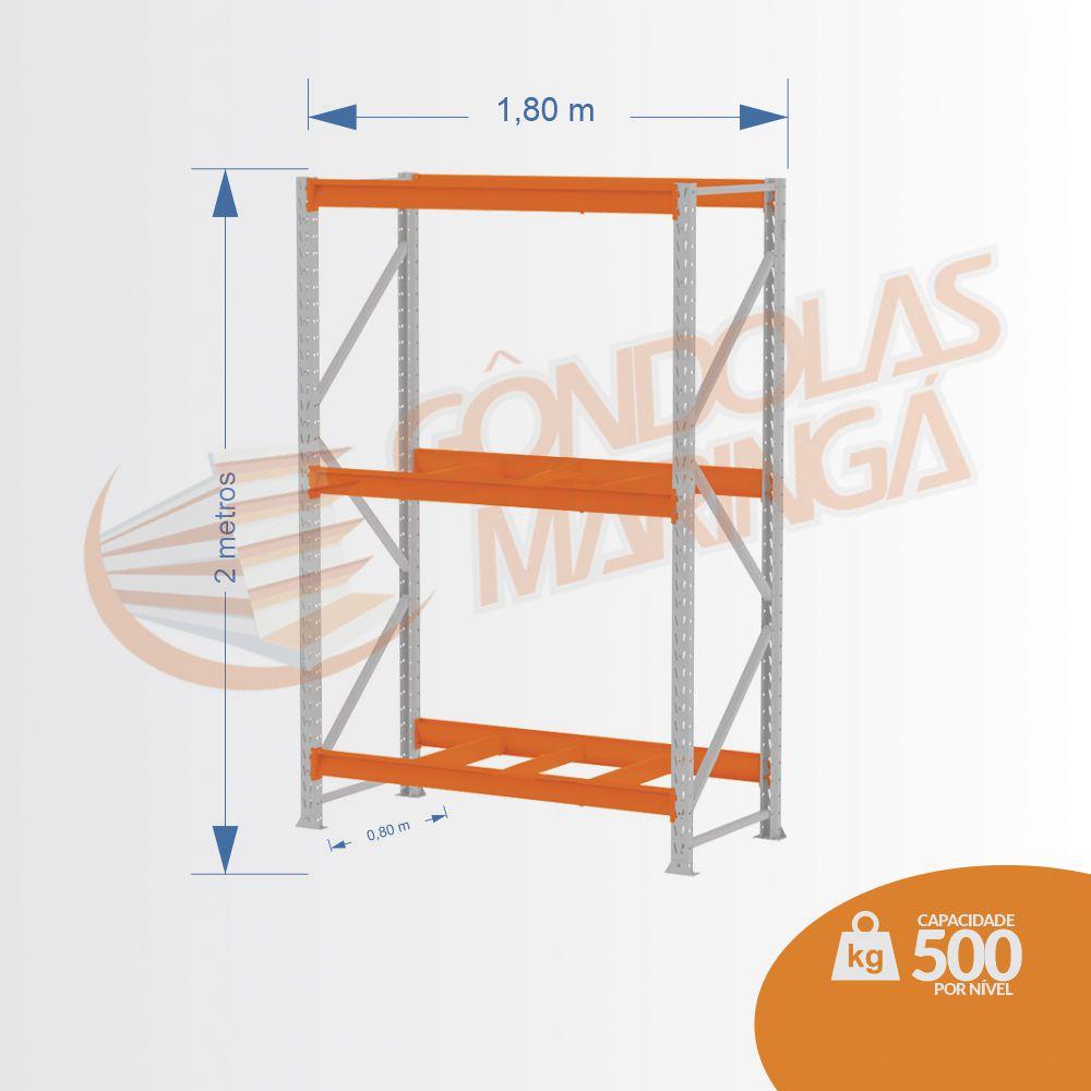 Mpp 500 Kg -kit Inicial- Lx 2,00 x 1,80 x 0,80 C3 - Crist Li S/ Band C/ Acab Lrj