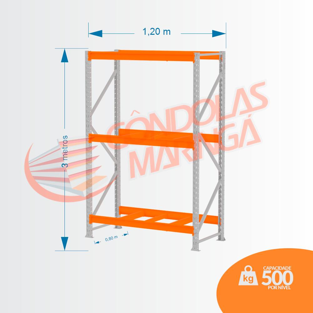 Mini Porta Pallet 500kg INIC LX 3,00X1,20 X 0,80 C3