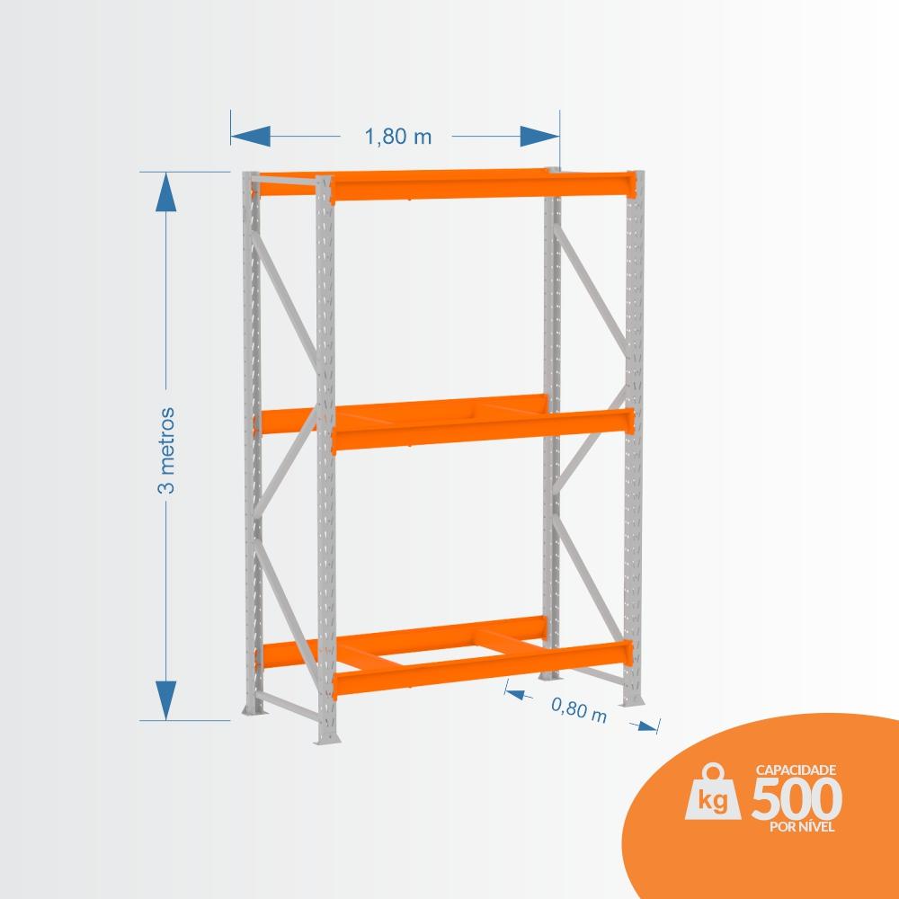 Mpp 500 Kg -kit Inicial- Lx 3,00 x 1,80 x 0,80 C3 - Crist Li S/ Band C/ Acab Lrj