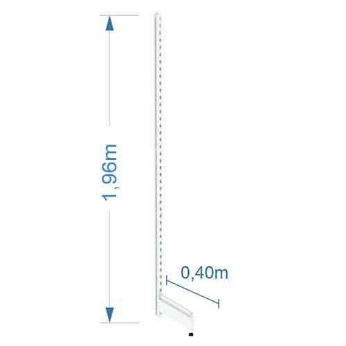 Pé de Gondola Parede 1,96m 0,40