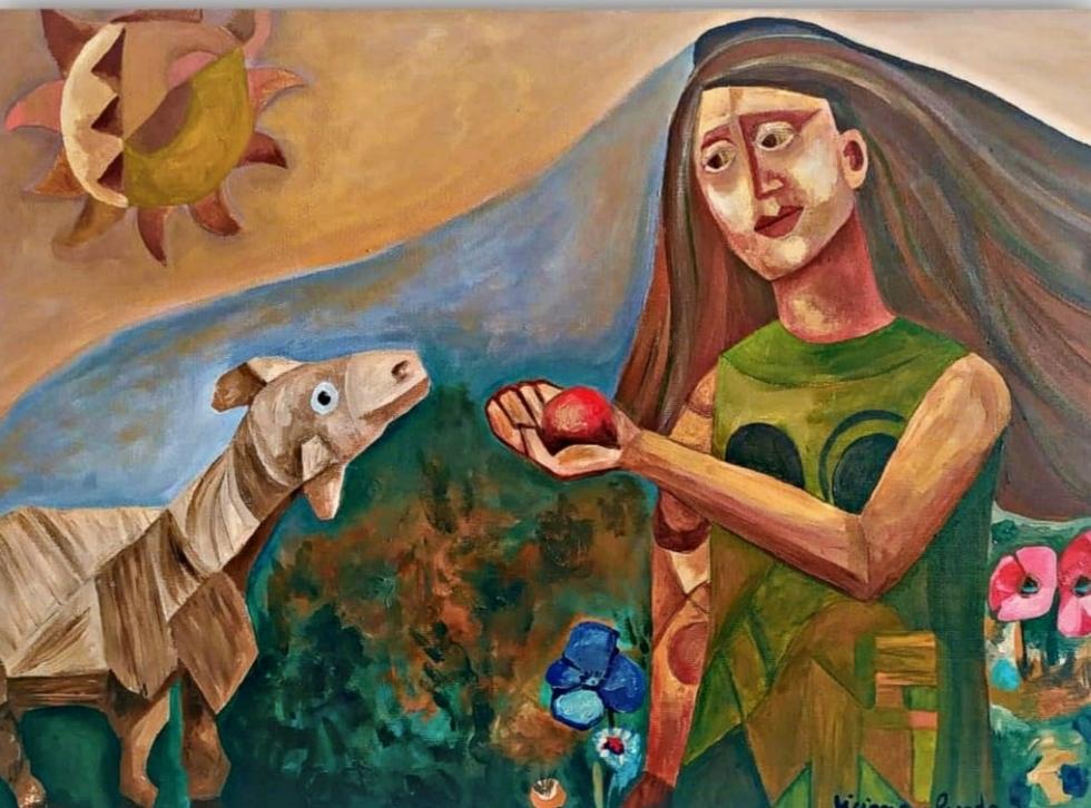 A mulher e o carneiro por Ticiana Parada