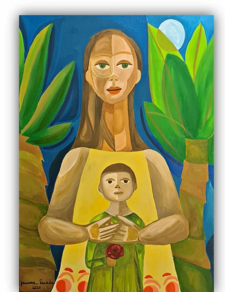 A mulher e o menino por Ticiana Parada