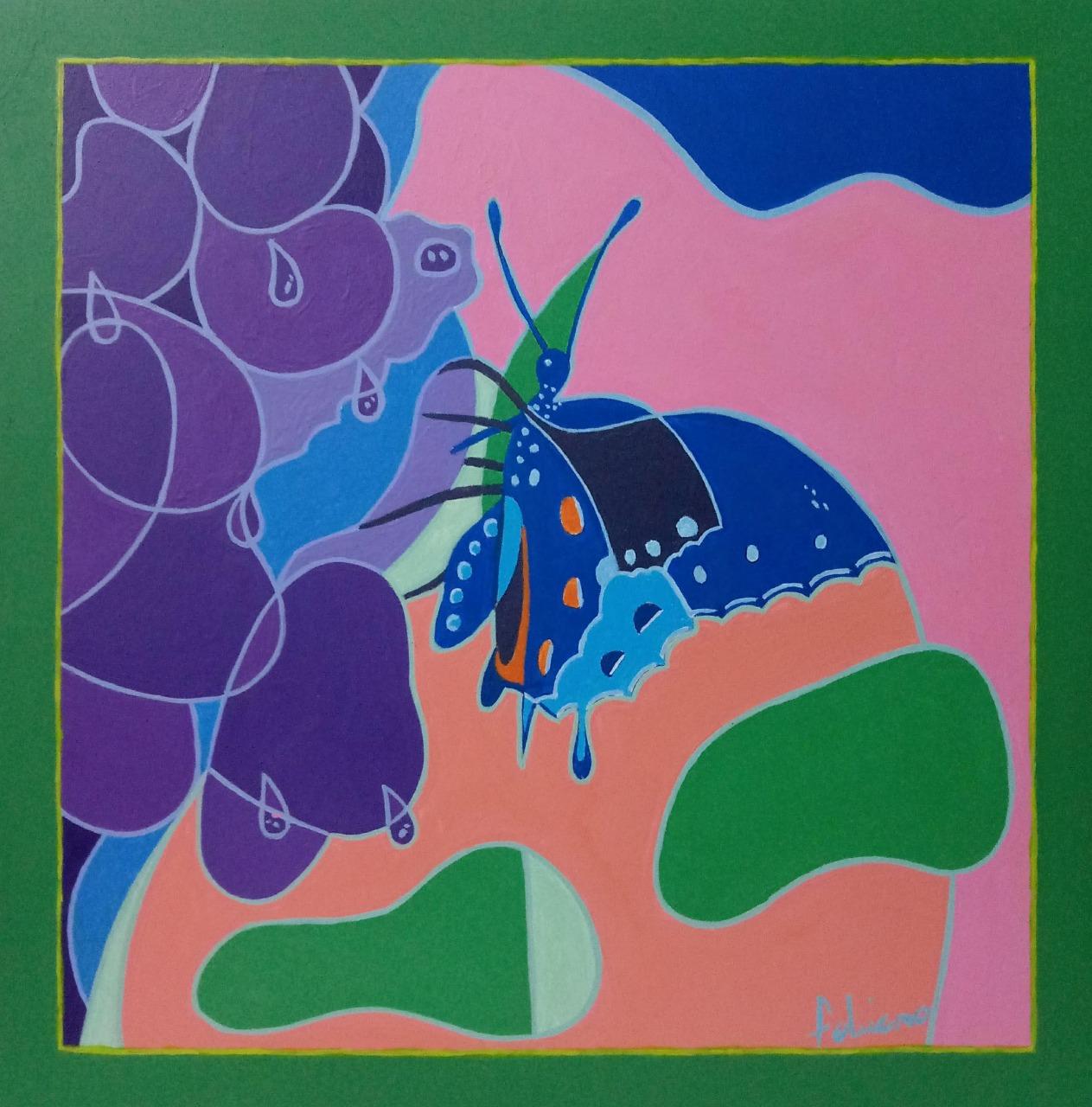 Borboleta azul por Fabiano Gonçalves