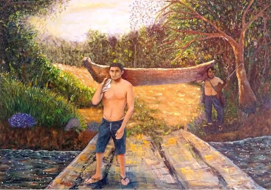 Canoeiros por Prado