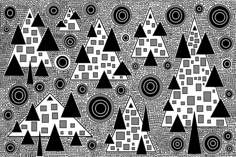 Pinheiro preto e branco por R. F. Bongarten
