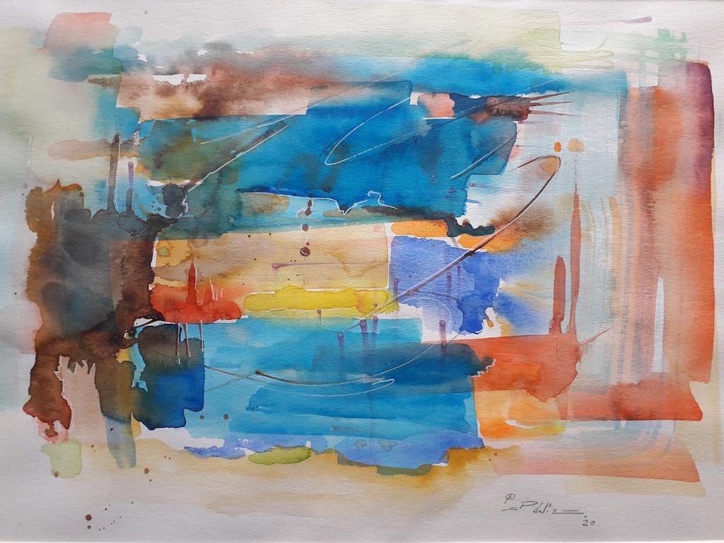 Variações em azul por Pedro Luiz