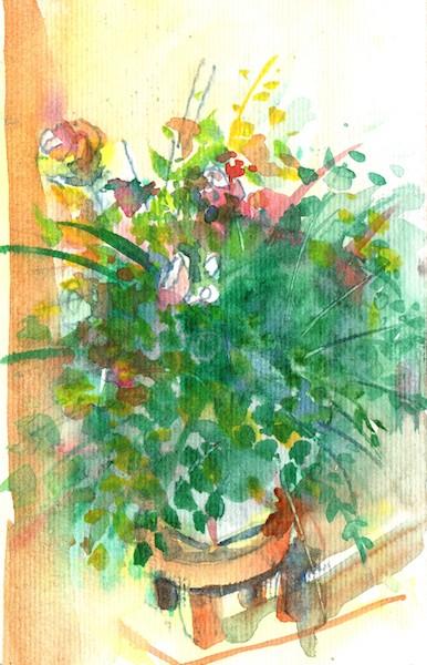 Vaso com flores falsas por Welton Santos