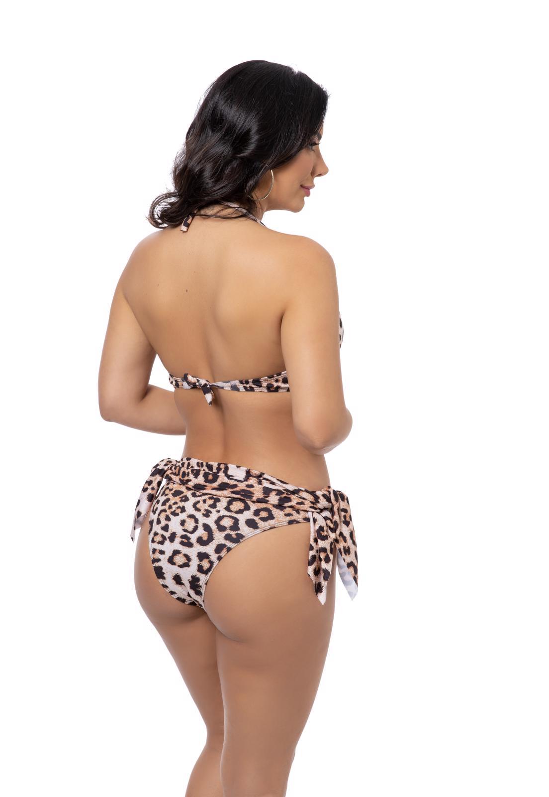 Biquíni Saia Estampa Leopardo
