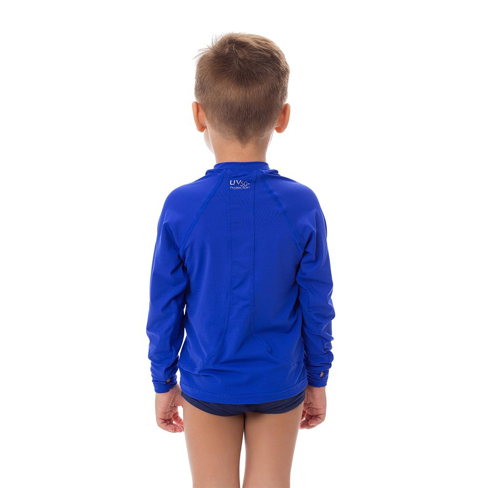Camisa UV Masculina Infantil  +50 Lisa Azul Royal